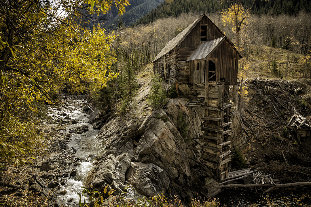 Colorado fall foliage the crystal mill robwilbourn for Crystal fall