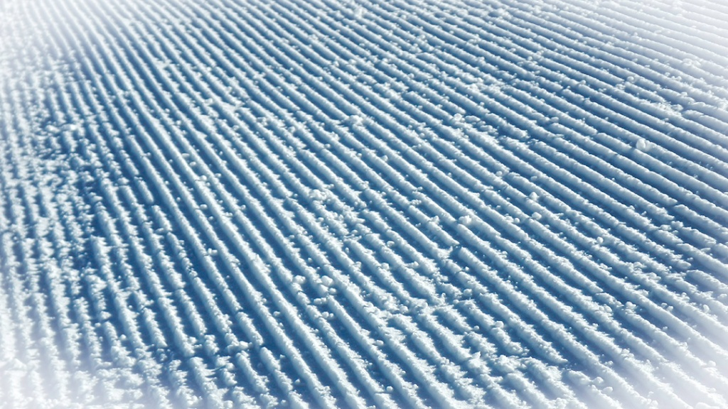 Corduroy left by groomers on Larkspur.