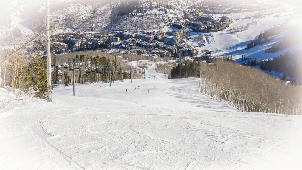 View downhill from Larkspur. Beaver Creek Village is visible at the base.